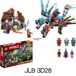 JLB 3D28 Xếp hình kiểu Lego THE LEGO NINJAGO MOVIE Ninjago Ride Super Beast Ninja Lốc xoáy cưỡi siêu quái thú 721 khối