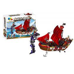 QIZHILE 70011 Xếp hình kiểu Lego PIRATES OF THE CARIBBEAN Attacking The Monster Con Tàu Cướp Biển Gặp Thủy Quái 737 khối