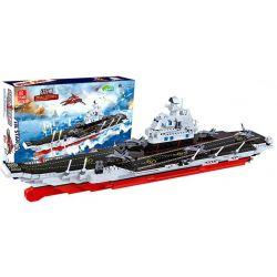 JIE STAR 20103 Xếp hình kiểu Lego MILITARY ARMY Aircraft Carrier Liaoing Tàu sân bay Liêu Ninh 1116 khối