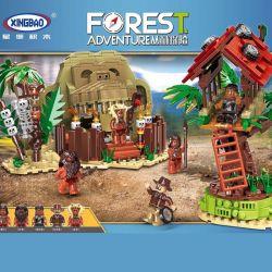Xingbao XB-15005 (NOT Lego Forest Adventure Survival In The Wild ) Xếp hình Cuộc Sống Với Thổ Dân Trong Rừng 1021 khối