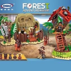 XINGBAO XB-15005 15005 XB15005 Xếp hình kiểu Lego FOREST ADVENTURE Jungle Adventure Field Survival Cuộc Sống Với Thổ Dân Trong Rừng 1021 khối
