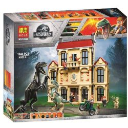Bela 10928 Lele 39118 (NOT Lego Jurassic World 75930 Indoraptor Rampage At Lockwood Estate ) Xếp hình Cuộc Tấn Công Cục Bộ Của Loài Khủng Long Ở Bảo Tàng 1019 khối