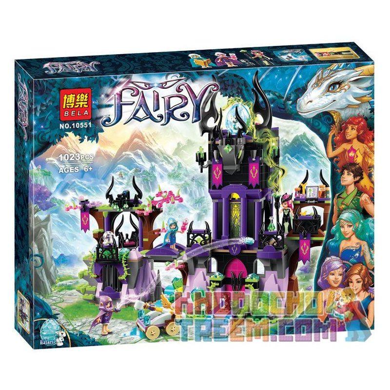 NOT Lego ELVES 41180 Ragana's Magic Shadow Castle Elf Dark Magic Castle In Laga , Bela 10551 Lari 10551 Xếp hình Tòa Lâu Đài Bóng Ma Của Mụ Phù Thủy Ragana 1014 khối