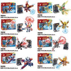 Sheng Yuan 1169 (NOT Lego Marvel Super Heroes Iron Man's Armors ) Xếp hình Những Bộ Áo Giáp Của Người Sắt gồm 8 hộp nhỏ 1008 khối