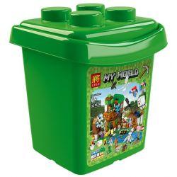 Lele 33163 (NOT Lego Minecraft People's Pets Scene Barrel ) Xếp hình Hộp Chế Tạo Các Vật Nuôi 1007 khối