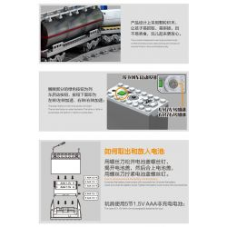 Kazi KY98219 98219 Xếp hình kiểu LEGO Trains Rail Train:DF5 Tàu hỏa có ray với động cơ pin 1002 khối