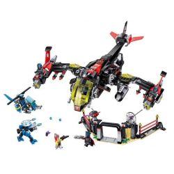 Enlighten 2721 Qman 2721 Xếp hình kiểu Lego THE HIGH-TECH ERA Technology Era I Night Speaker Fighter Máy Bay Chiến Đấu Trang Bị Súng Hủy Diệt 1001 khối