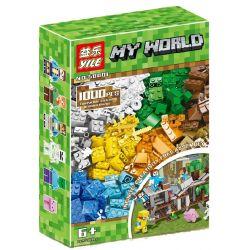 YILE 50001 Xếp hình kiểu Lego MINECRAFT My World Creative Barrel Xếp Hình Tự Do 1000 khối
