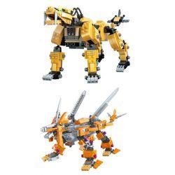 Gao Bo Le Gbl KY98113 (NOT Lego Transformers Liger Zero Schneider, Zaber Fang ) Xếp hình 2 Quái Thú Máy gồm 2 hộp nhỏ 991 khối
