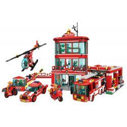 Winner 7025 Xếp hình kiểu Lego FIRE RESCURE Fire Brigade Fire Special Service Team Fire Department Lực Lượng Cứu Hỏa 969 khối
