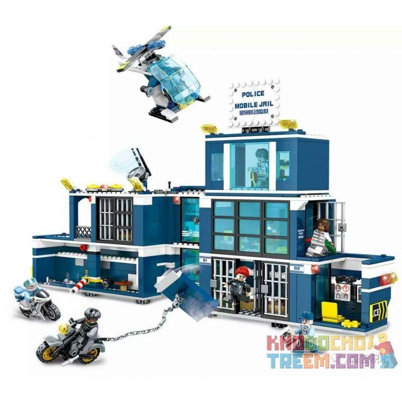 SEMBO SD9816 9816 Xếp hình kiểu Lego CITY Police Mobile Jail Nhà Tù Di Động 960 khối