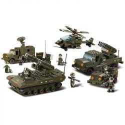 Sluban M38-B7000 (NOT Lego Land Forces 2 Air Defense Guns ) Xếp hình Đội Xe Bắn Trên Không 956 khối