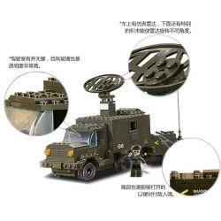 SLUBAN M38-B7000 B7000 7000 M38B7000 38-B7000 Xếp hình kiểu Lego LAND FORCES 2 Army Air Defense Artillery Đội Xe Bắn Trên Không 956 khối