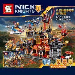 SHENG YUAN SY SY801 Xếp hình kiểu Lego NEXO KNIGHTS Nick Kinghts Clown Secret Lava Command Base Pháo Đài Nham Thạch 949 khối