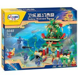 Winner 5048 Xếp hình kiểu Lego MONKIE KID Fantasy Westward Journey The Dragon Palace Wei Music Magic Westward Journey Đại Náo Long Cung 948 khối