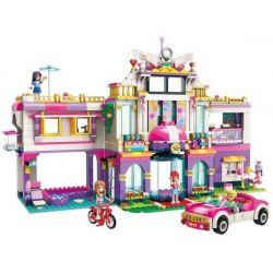 Enlighten 2017 Qman 2017 Xếp hình kiểu Lego CHERRY Colorful Holiday Star Dream Holiday Villa Kỳ Nghỉ Của Các Cô Gái Ở Ngôi Biệt Thự Sang Trọng 944 khối
