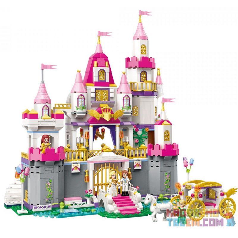 Enlighten 2612 Qman 2612 KEEPPLEY 2612 Xếp hình kiểu Lego PRINECESS LEAH Prinecess Leah:Angel Castle Celebration Lâu Đài Của Công Chúa Leah Và Hoàng Tử 938 khối