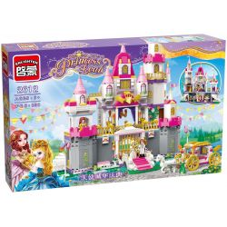 Enlighten 2612 Qman 2612 Xếp hình kiểu Lego PRINECESS LEAH Prinecess Leah Angel Castle Celebration Princess Lay Lâu Đài Của Công Chúa Leah Và Hoàng Tử 938 khối