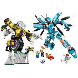 Enlighten 3007 Qman 3007 Xếp hình kiểu Lego TRANSFORMERS Super Soccer Century Football Win A Victory Trận Bóng Đá Quyết Định Của Các Robot lắp được 2 mẫu 938 khối