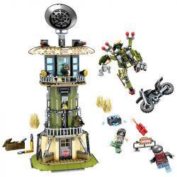 SEMBO 11717 Xếp hình kiểu Lego BLACK GOLD Black Plan Watch Tower Tấn Công Trạm Gác 651 khối