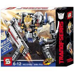 Sheng Yuan 952 SY952 (NOT Lego Transformers Transformers:megatron ) Xếp hình Robot Thủ Lĩnh Decepticon Megatron lắp được 2 mẫu 648 khối