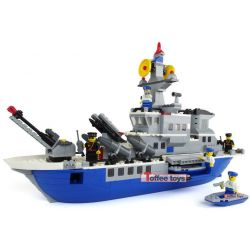 JIE STAR 31003 Xếp hình kiểu Lego MILITARY ARMY Super Destroyer Siêu tàu khu trục 646 khối