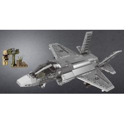 XINGBAO XB-06026 06026 XB06026 Xếp hình kiểu Lego ACROSS THE BATTLEFIELD Across The Battlefield F35 F35 Fighter Máy Bay Chiến đấu Thế Hệ Thứ 5 646 khối