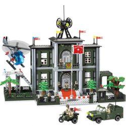 Enlighten 825 (NOT Lego Military Army Command Headquarters ) Xếp hình Trụ Sở Chỉ Huy Quân Đội 1048 khối