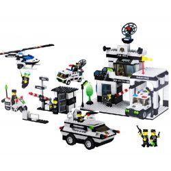 Wange 40229 (NOT Lego City Police Station ) Xếp hình Sở Cảnh Sát 880 khối