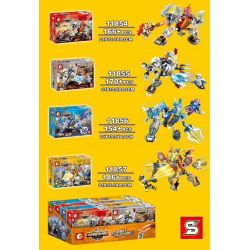 Sembo 11854 11855 11856 11857 (NOT Lego King of Glory Hegemony Glory Hegemony ) Xếp hình Siêu Nhân, Lưu Bị, Triệu Vân, Lữ Bố gồm 4 hộp nhỏ 636 khối