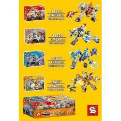 SEMBO 11854 11855 11856 11857 Xếp hình kiểu Lego KING OF GLORY HEGEMONY Glory Hegemony Siêu nhân, Lưu Bị, Triệu Vân, Lữ Bố gồm 4 hộp nhỏ 636 khối