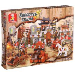 Sluban M38-B0267 (NOT Lego Castle Physical Intelligence ) Xếp hình Trận Chiến Xích Bích 846 khối