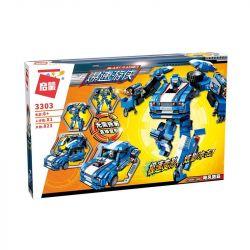 Enlighten 3303 Qman 3303 Xếp hình kiểu Lego TRANSFORMERS Blast Ranger Storm Ramadama Hurricane Road Người Máy Cảnh Sát Biến Hình Thành Ô Tô Storm lắp được 2 mẫu 823 khối