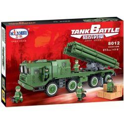 Winner 8012 Xếp hình kiểu Lego TANK BATTLE TankBattle Land War 03 Style Rocket Xe Pháo Tự Hành 613 khối
