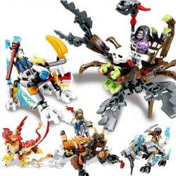 SEMBO SD3200 3200 Xếp hình kiểu Lego CHRONICLES OF THE GHOSTLY TRIBE Knights And Skeleton Lord War Cuộc Chiến Của Các Kỵ Binh Và Bộ Xương Quỷ 828 khối