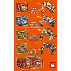 SEMBO 11898 11899 11900 11901 Xếp hình kiểu Lego KING OF GLORY HEGEMONY Gun 4 Models 4 Trong 1 gồm 4 hộp nhỏ 633 khối
