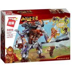 Enlighten 3806 Qman 3806 Xếp hình kiểu Lego MONKIE KID WUKONG Journey To The West Decisive Battle Trận Chiến Của Ngộ Không Với Ngưu Ma Vương 593 khối