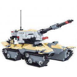 JIE STAR 29028 Xếp hình kiểu Lego MILITARY ARMY Double Gun Assault Tank Xe tăng tấn công 2 nòng 831 khối