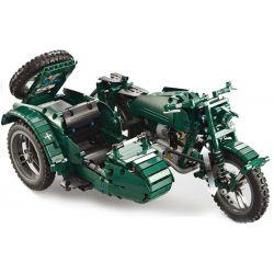 Cada C51021 C51021W (NOT Lego Military Army World War Ii Military Motorcycle ) Xếp hình Xe Gắn Máy Quân Sự Thế Chiến Thứ Hai gồm 2 hộp nhỏ 629 khối