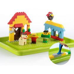 WANGE DR.LUCK 8100 Xếp hình kiểu Lego DACTA Designer Wange Gift Boxed Sugar Square Creative Variety Small Granules Sáng Tạo Thế Giới Của Bé 625 khối