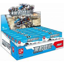 Le Di Pin K 27003 JZ27003 (NOT Lego SWAT Special Force 18 In 6 In 1 Multiple 12-Wheel Police Car ) Xếp hình Xe Cảnh Sát Kết Hợp Từ 18 Xe Con gồm 12 hộp nhỏ 590 khối