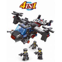 LE DI PIN 27004 Xếp hình kiểu Lego SWAT SPECIAL FORCE 4 In 1 SWAT Vehicles Các Phương Tiện Của Đội Cảnh sát đặc nhiệm SWAT 4 trong 1 752 khối