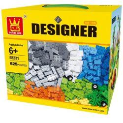 WANGE DR.LUCK 58231 Xếp hình kiểu Lego DACTA Designer Wange Gift Boxed Sugar Square Creative Variety Small Granules Thỏa Sức Sáng Tạo Với Các Khối Nhỏ 625 khối