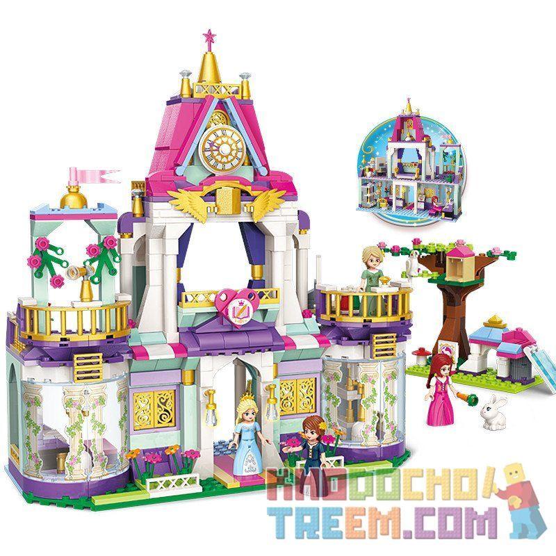 Enlighten 2611 Qman 2611 Xếp hình kiểu Lego FRIENDS Royal Wisdom School Royal Winson College Trường Học Hoàng Gia Của Công Chúa Leia 626 khối