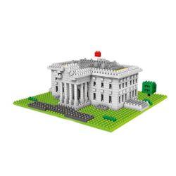 Wise Hawk 2329 Nanoblock Architecture The White House Xếp hình Nhà Trắng 874 khối