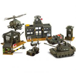 Sluban M38-B7100 (NOT Lego Land Forces 2 Army Barrack ) Xếp hình Doanh Trại Quân Đội 1086 khối
