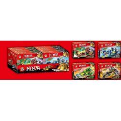 SHENG YUAN SY 7033 7033A 7033B 7033C 7033D SY7033 7033 Xếp hình kiểu THE LEGO NINJAGO MOVIE Ninja Ninja Master Mechanical Ninja 忍 冰 火 战 4 Siêu Chiến Xa Của Ninja gồm 6 hộp nhỏ 581 khối