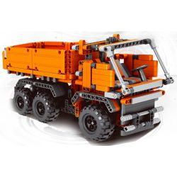 QIZHILE 23001 Xếp hình kiểu Lego MASTER BULIDER Architect Engineering Transport Vehicle Xe Ben 618 khối