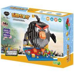 Panlos G835-4 Nanoblock Angry Birds Xếp hình Chim Điên Màu Đen 580 khối