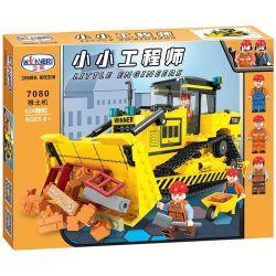 Winner 7080 Xếp hình kiểu Lego CITY Little Engineers Small Engineer Bulldozer Máy ủi 624 khối